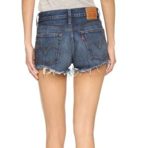 NEW Levi's 501 High Waist Rise Cut Off Jean Shorts